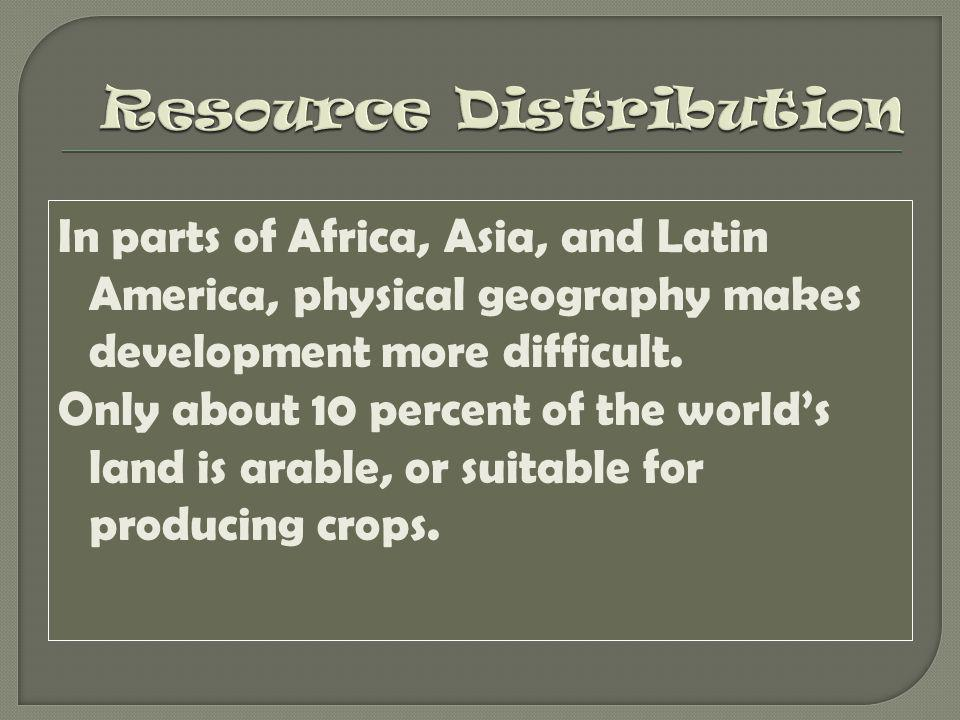 Resource Distribution
