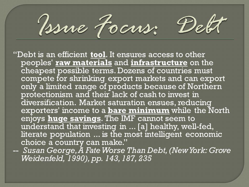 Issue Focus: Debt