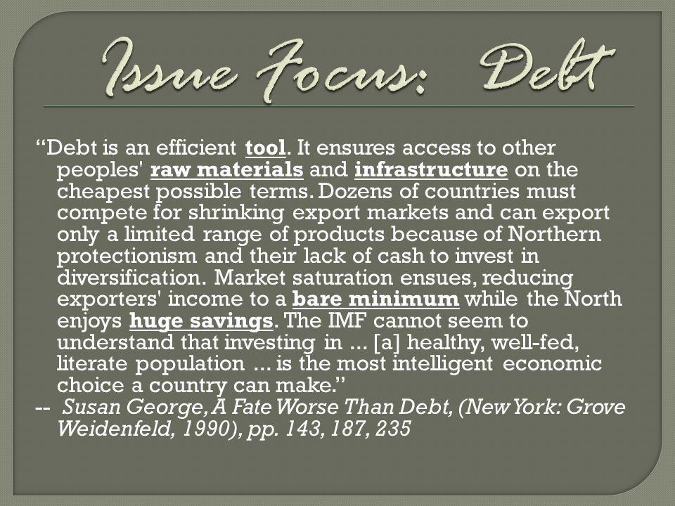 Issue Focus: Debt