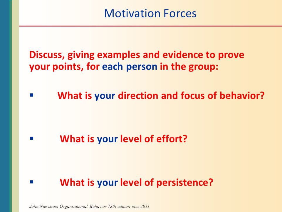 John Newstrom Organizational Behavior 13th edition mcc 2011