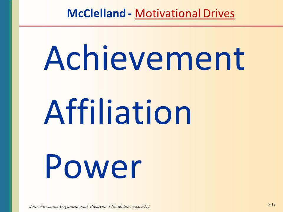 McClelland - Motivational Drives
