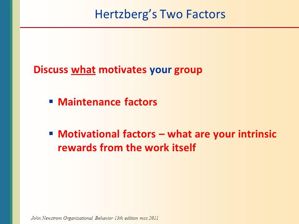 Hertzberg's Two Factors