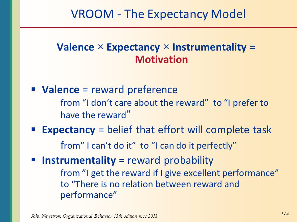 VROOM - The Expectancy Model