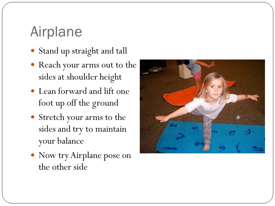 Airplane Stand up straight and tall