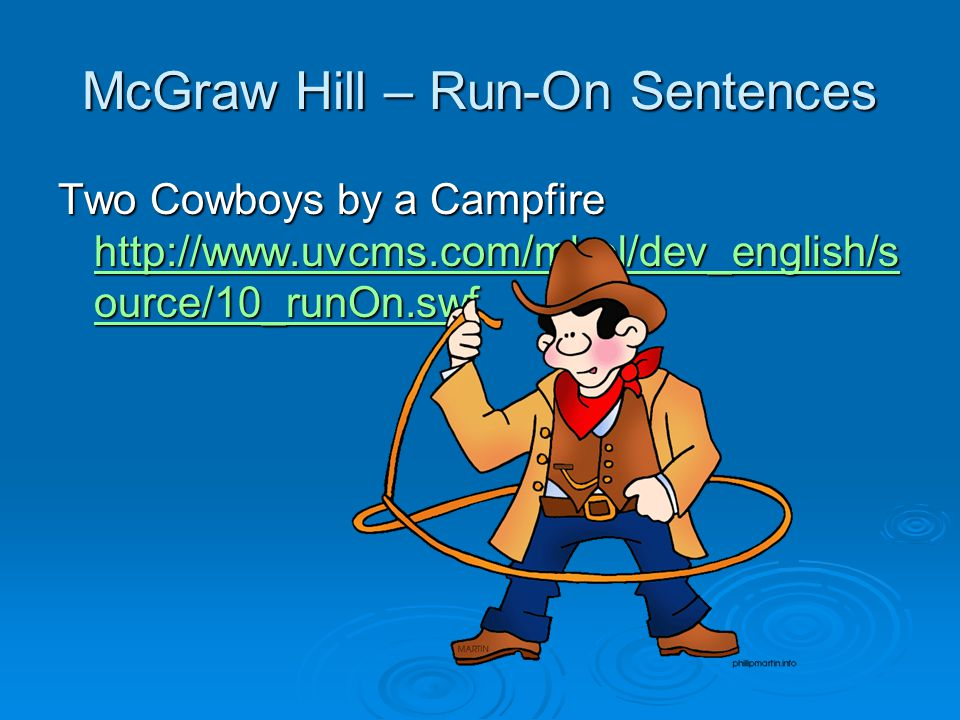 McGraw Hill – Run-On Sentences