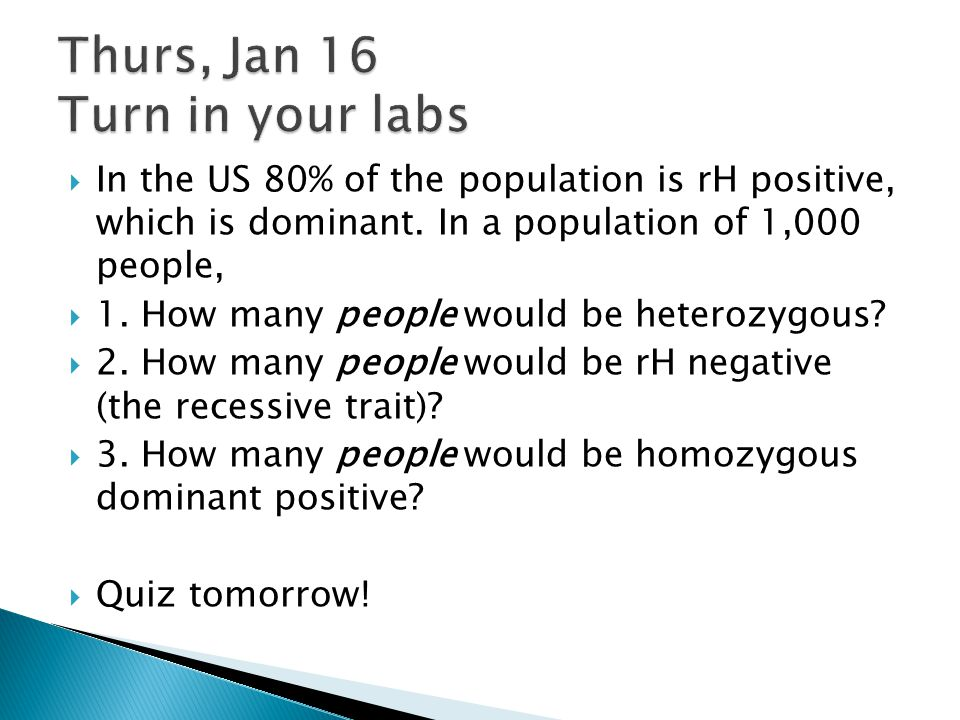Thurs, Jan 16 Turn in your labs
