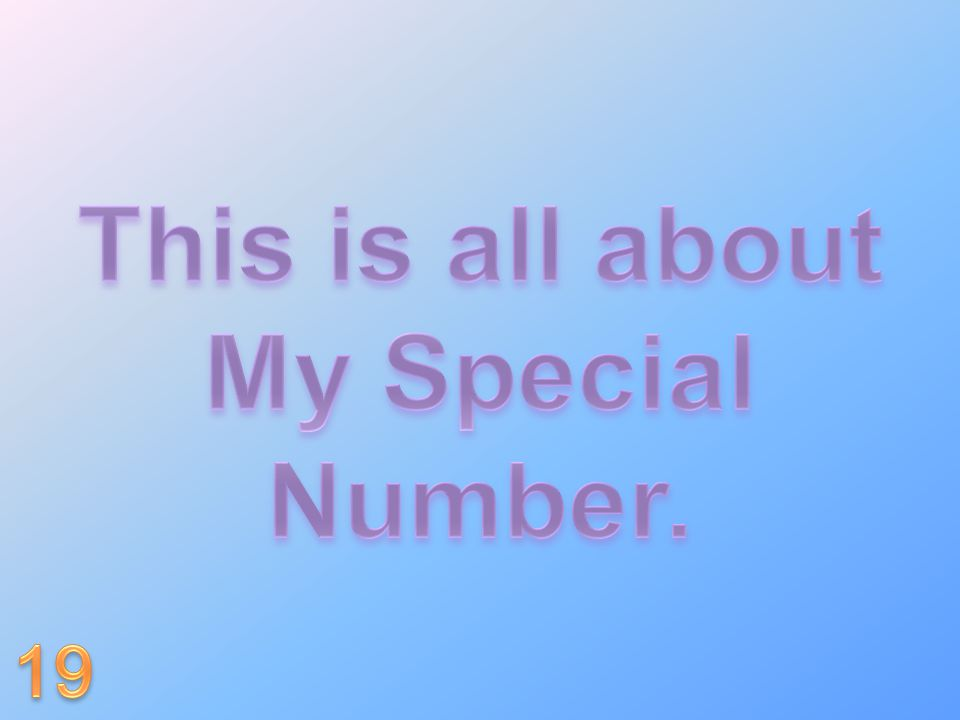 This is all about My Special Number.