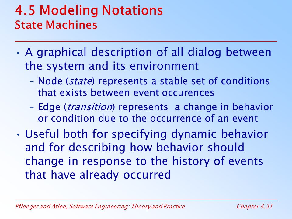 4.5 Modeling Notations State Machines
