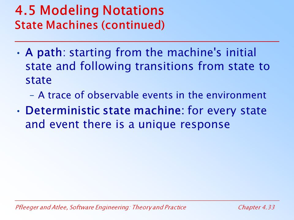 4.5 Modeling Notations State Machines (continued)