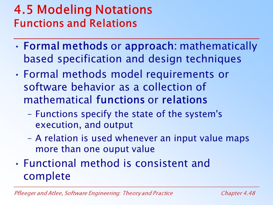 4.5 Modeling Notations Functions and Relations