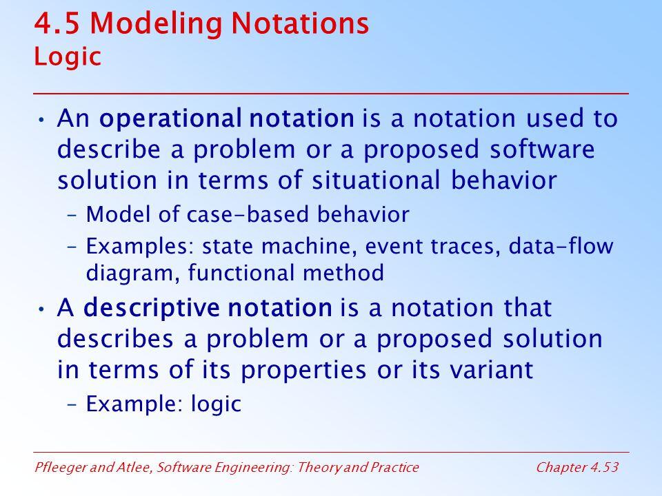 4.5 Modeling Notations Logic