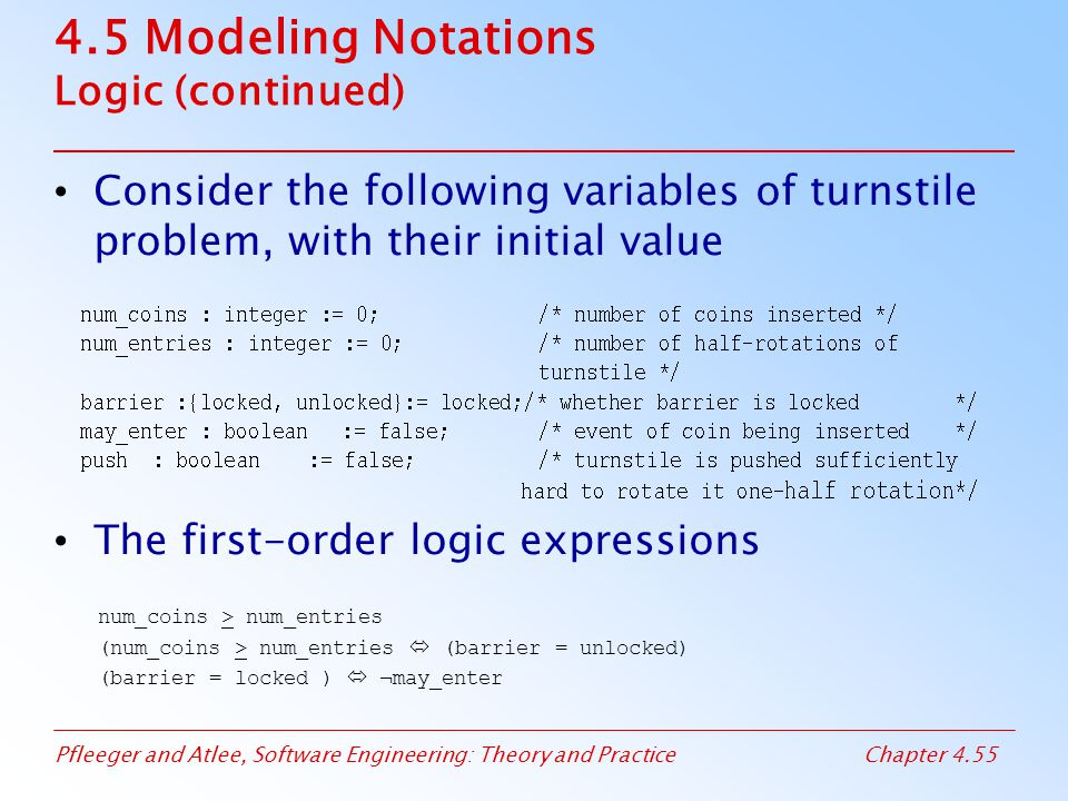 4.5 Modeling Notations Logic (continued)