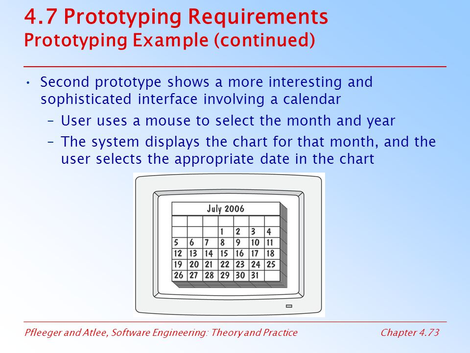 4.7 Prototyping Requirements Prototyping Example (continued)