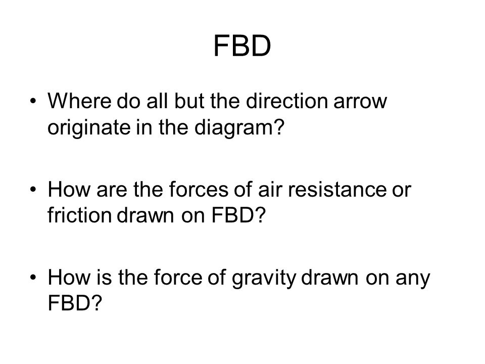 FBD Where do all but the direction arrow originate in the diagram