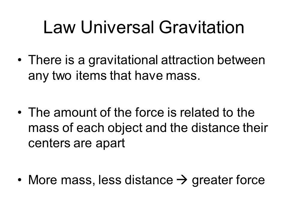 Law Universal Gravitation