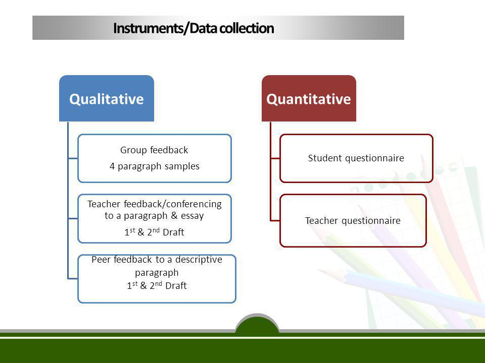 Instruments/Data collection