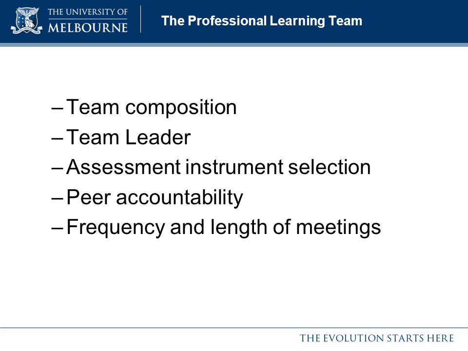 The Professional Learning Team