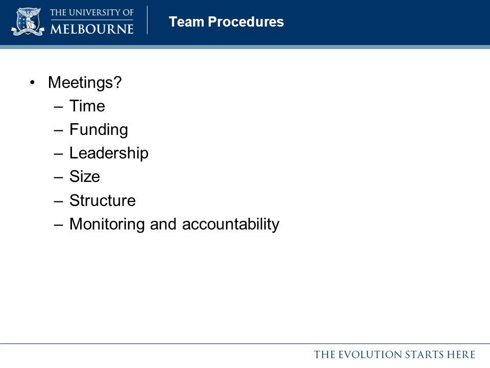 Monitoring and accountability
