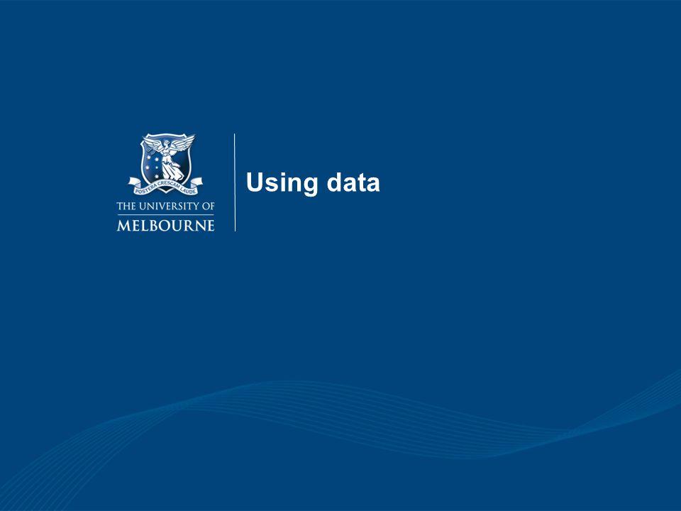 Using data 19