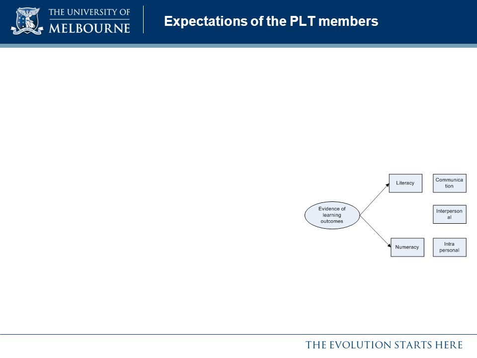 Expectations of the PLT members