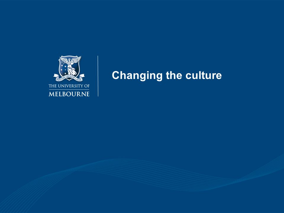 Changing the culture 47