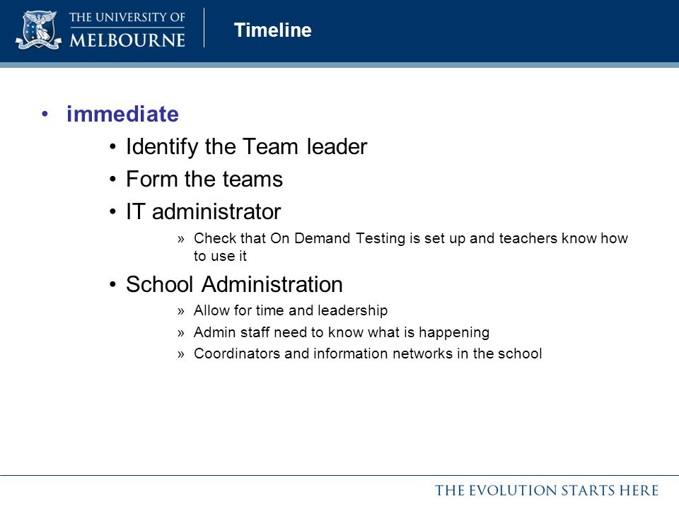Identify the Team leader Form the teams IT administrator