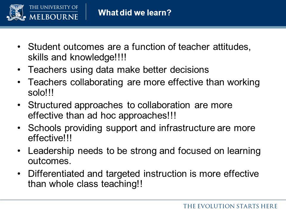 Teachers using data make better decisions