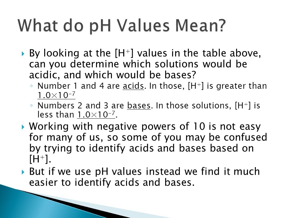 What do pH Values Mean