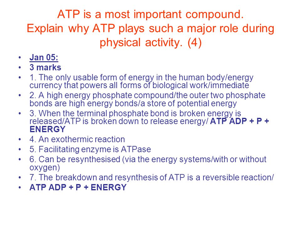 ATP is a most important compound