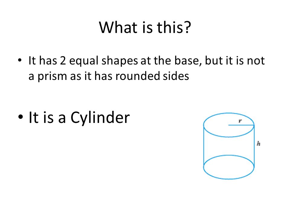 What is this It is a Cylinder