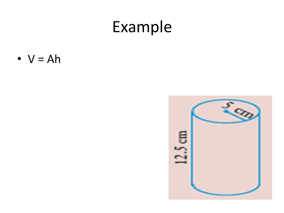 Example V = Ah