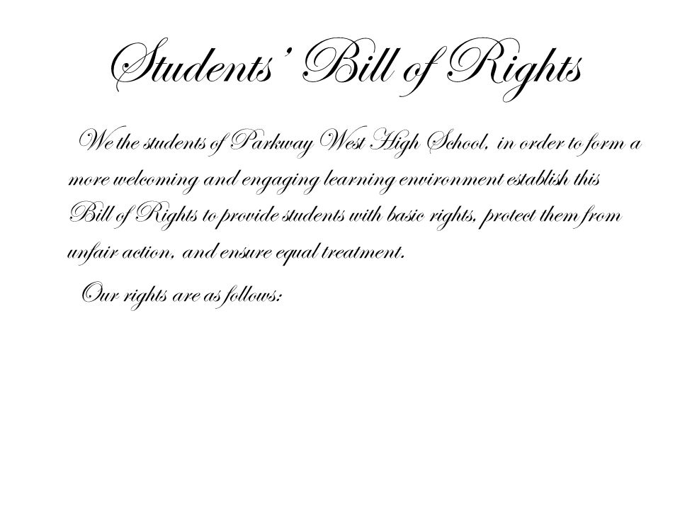 Students' Bill of Rights