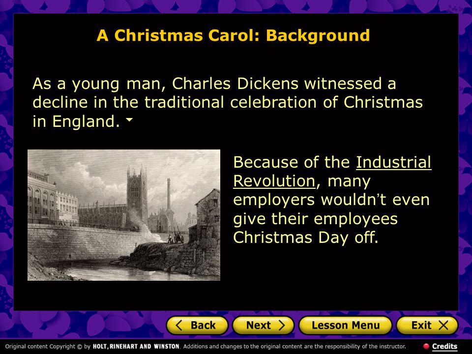 A Christmas Carol: Background