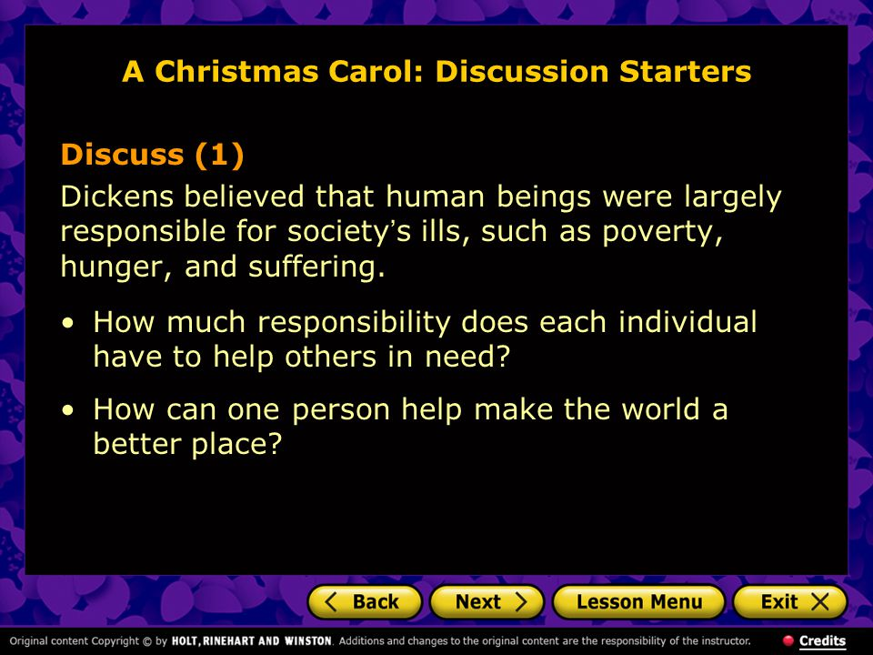 A Christmas Carol: Discussion Starters