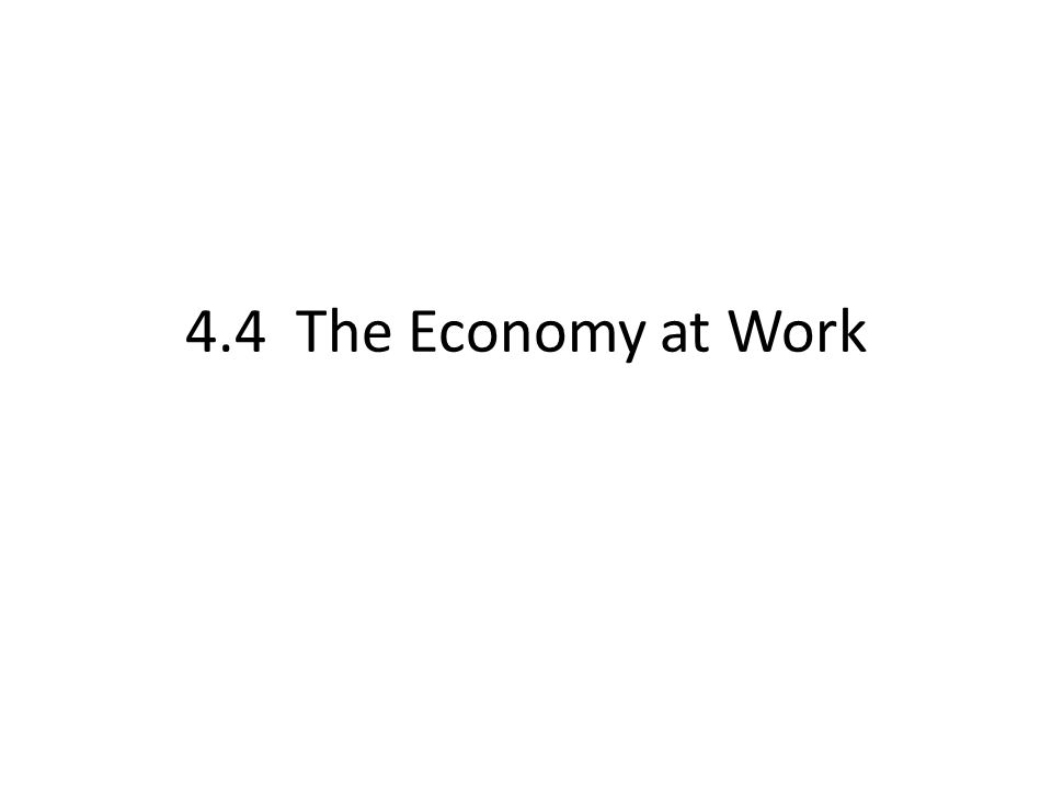 4.4 The Economy at Work