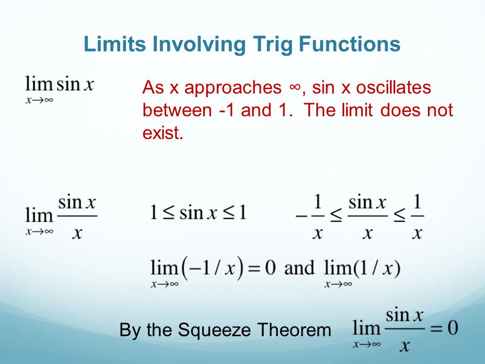 Limits Involving Trig Functions