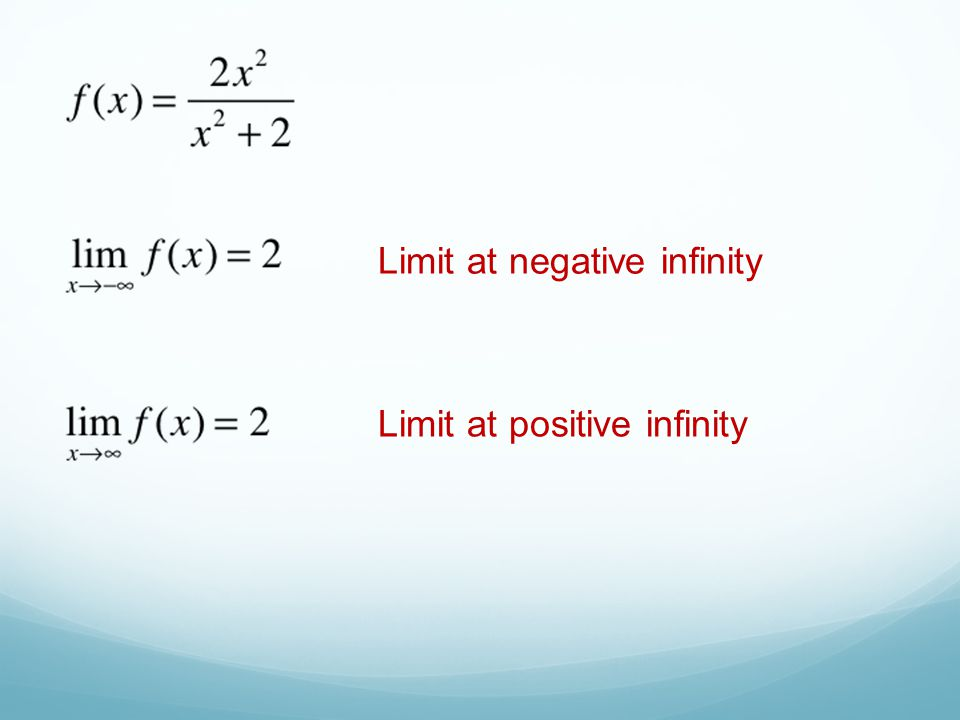 Limit at negative infinity