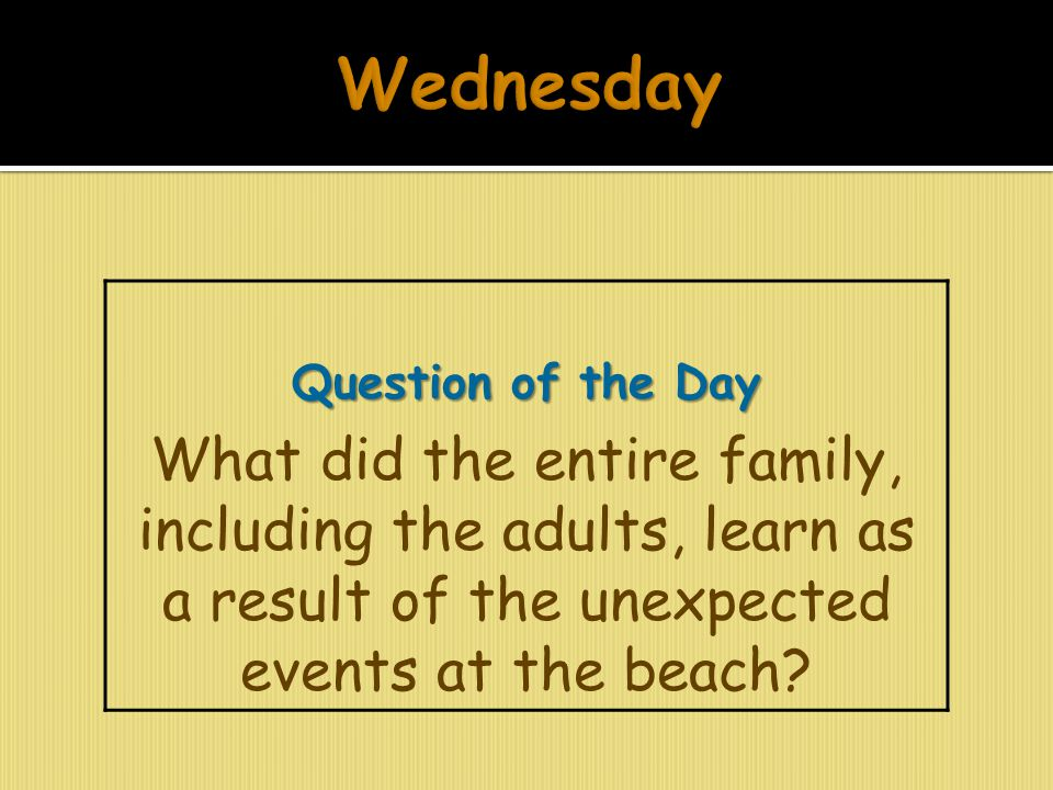 Wednesday Question of the Day.