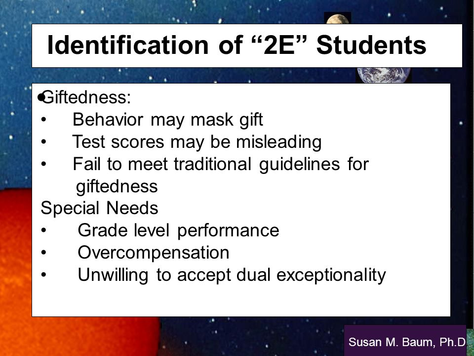 Identification of 2E Students
