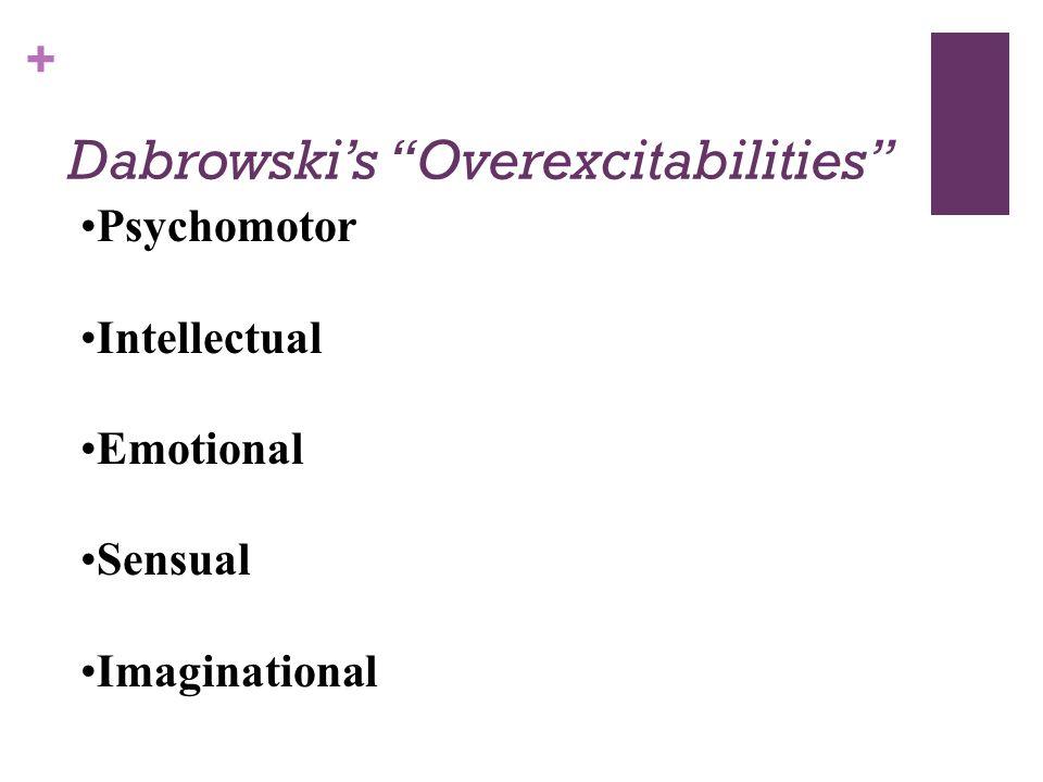 Dabrowski's Overexcitabilities