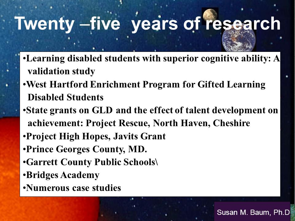 Twenty –five years of research