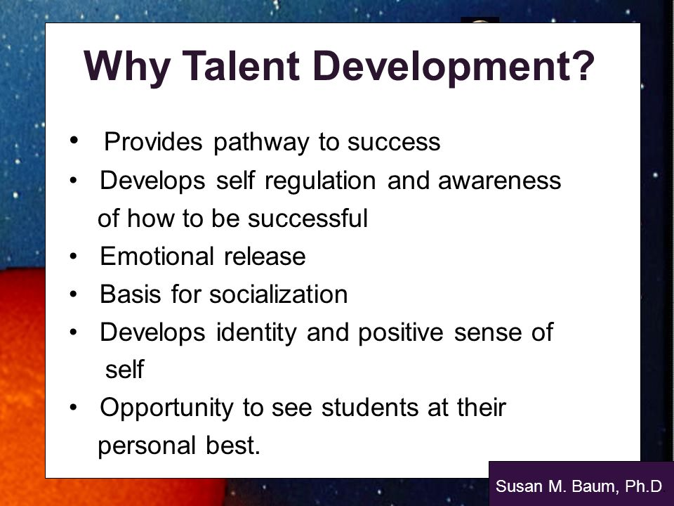 Why Talent Development