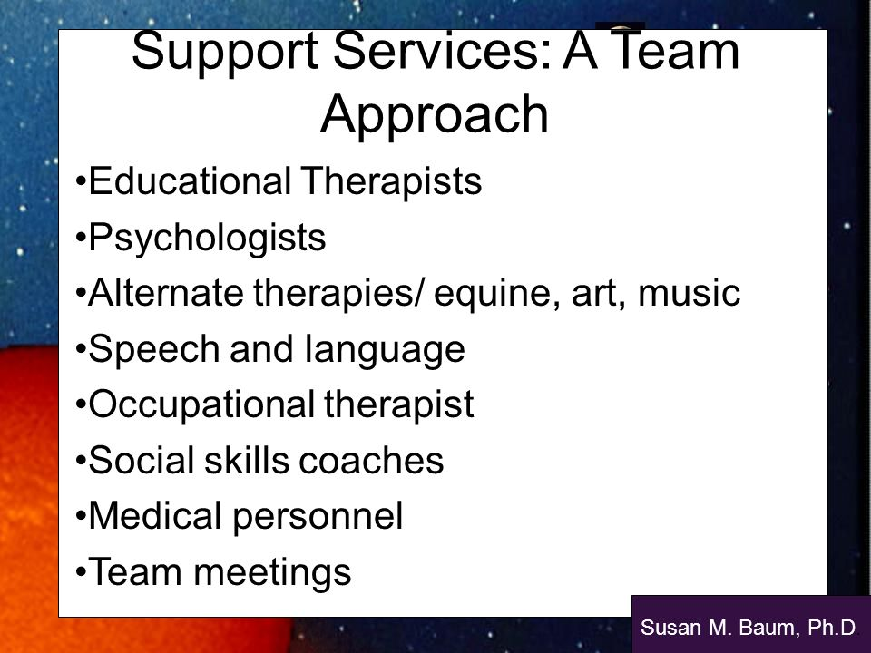 Support Services: A Team Approach