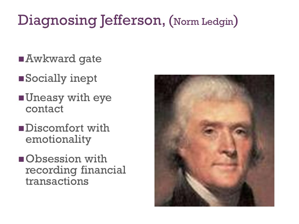 Diagnosing Jefferson, (Norm Ledgin)