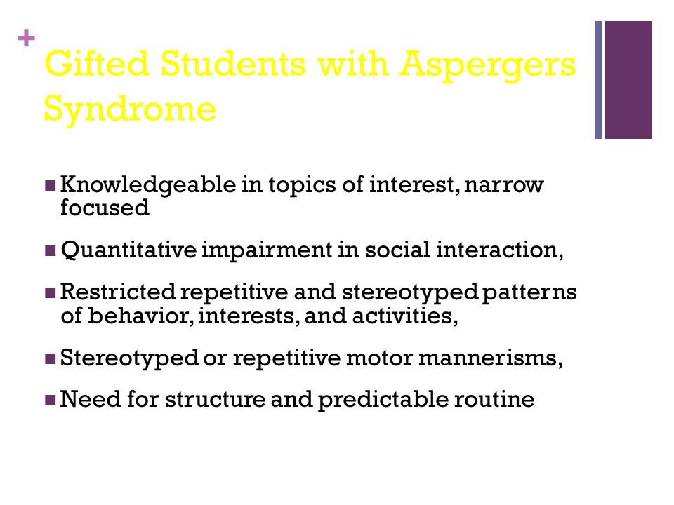 Gifted Students with Aspergers Syndrome