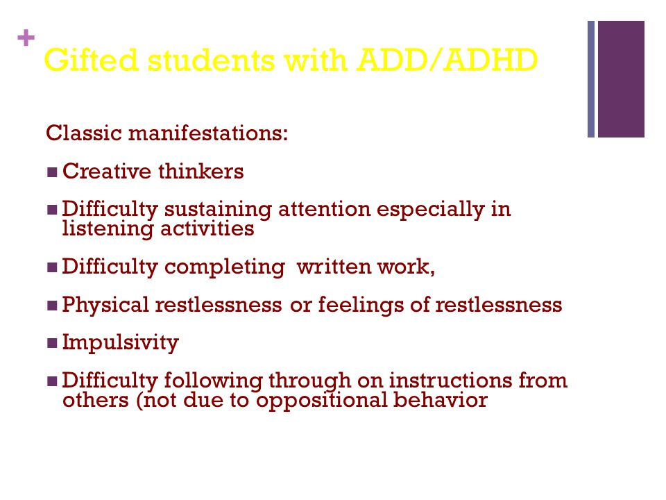 Gifted students with ADD/ADHD