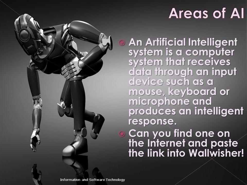 Areas of AI