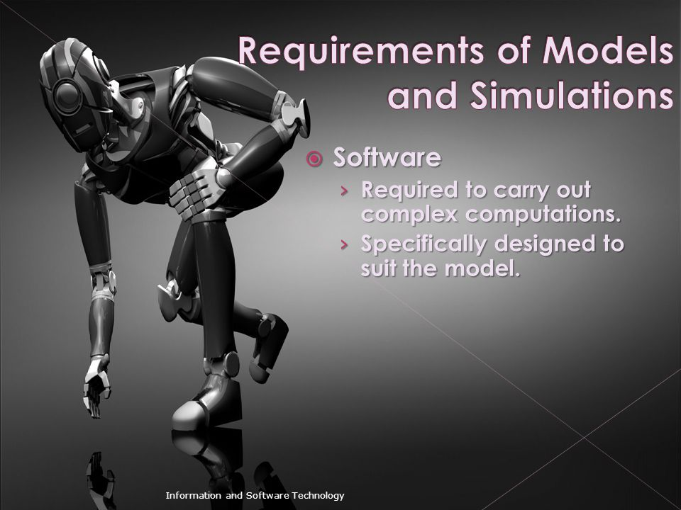 Requirements of Models and Simulations