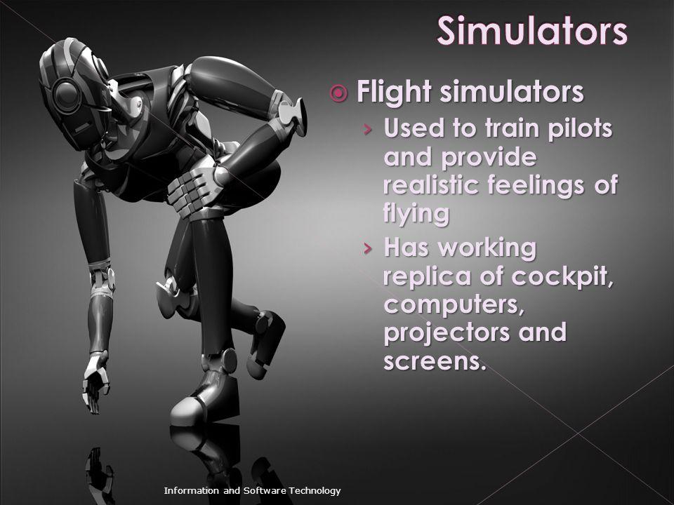 Simulators Flight simulators