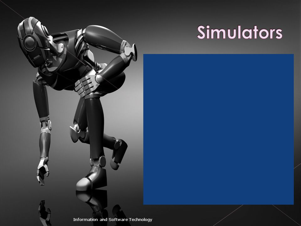 Simulators Information and Software Technology